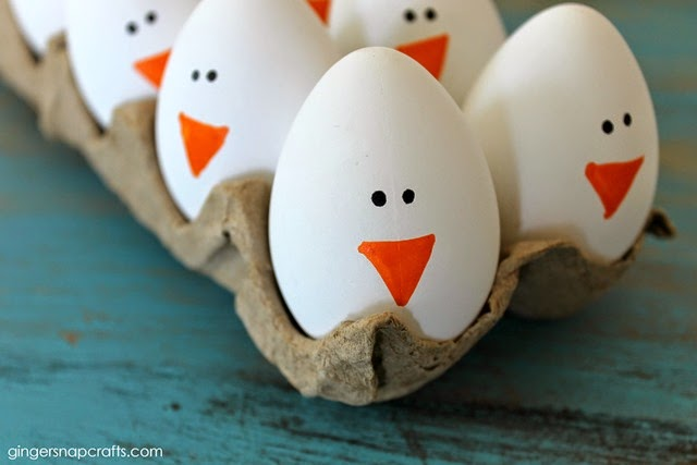 chick eggs for Easter at GingerSnapCrafts.com