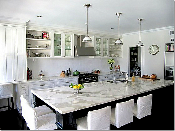 White Kitchen Marble Countertop cote de texas: white marble for the kitchen, yes or no?