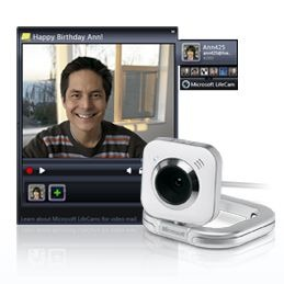 LifeCam Video Messages Gadget