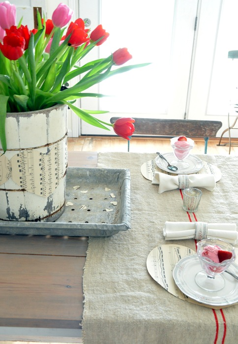 valentines galvanized tray