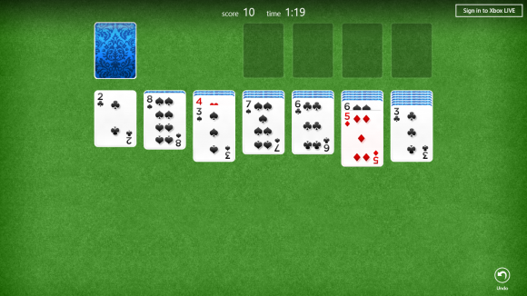 Windows 8 solitaire