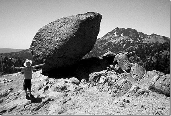 Bumpass Hell Parking Lot, Lassen Volcanic National Park, California.  July 2004.