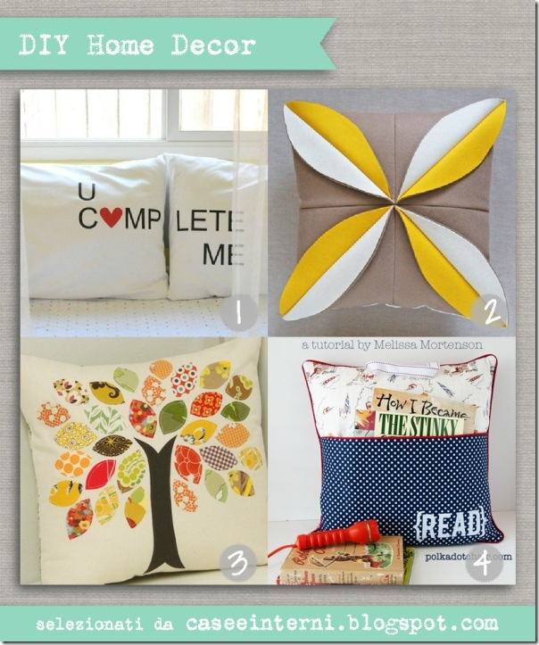 case e interni - DIY - pillow tutorial - cuscini cucito creativo