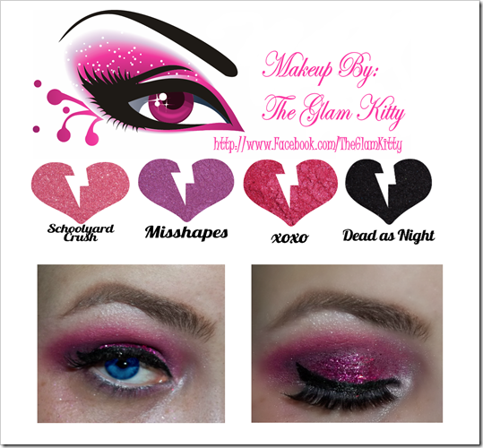 Pink Glitter Holiday Makeup