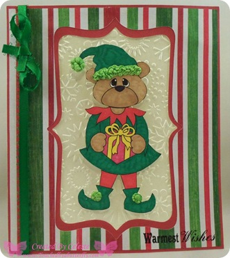 celeste bear as elf