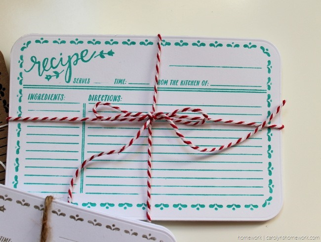 Lifestyle Crafts Embossed Recipe Cards - homework (5)