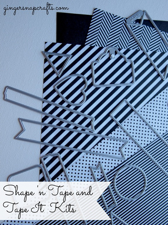 Shape 'n tape kits #LifestyleCrafts