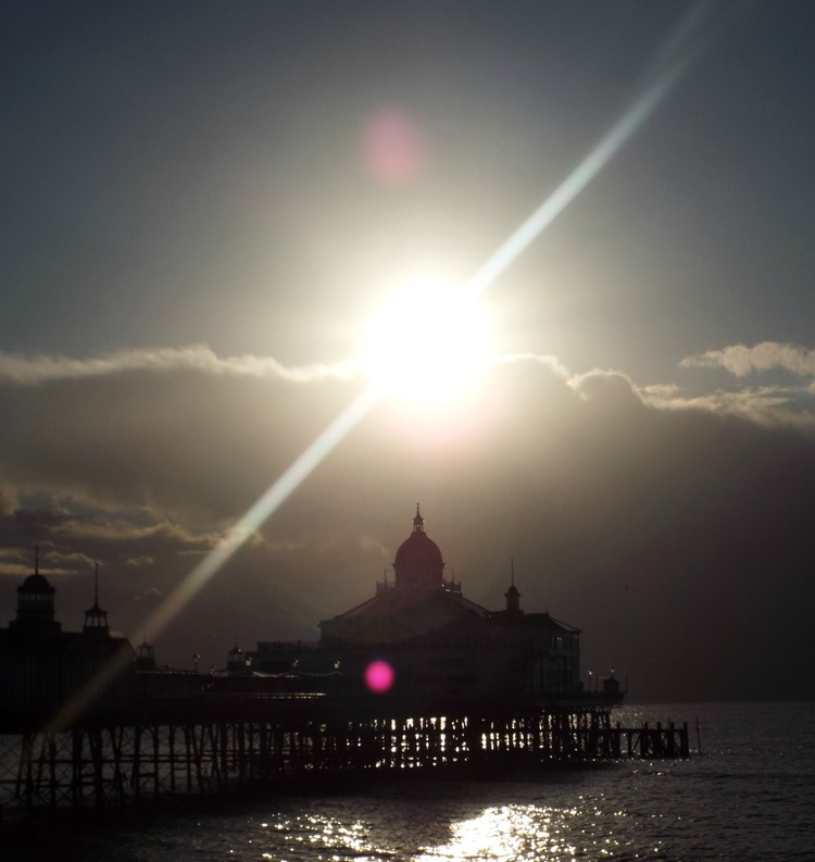 eastbourne pier morning after the rain