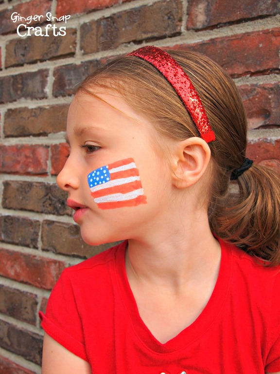 Ginger Snap Crafts 4th Of July Face Painting With People Paint Decoart