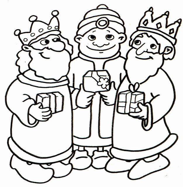 Dibujos Navidad Para Colorear Reyes Magos   Bernadettes