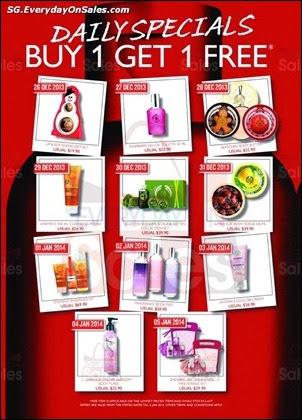 f32900d0b4eb0c 26 Dec 2013-5 Jan 2014  The Body Shop Post Christmas 1-for-1 Promotion