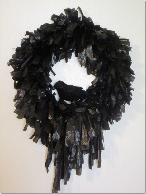 Trash Bag Wreath