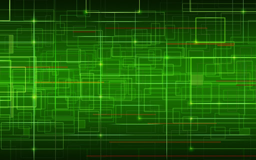 Abstract Green Square Design