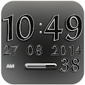 Digi Clock Widget White Star
