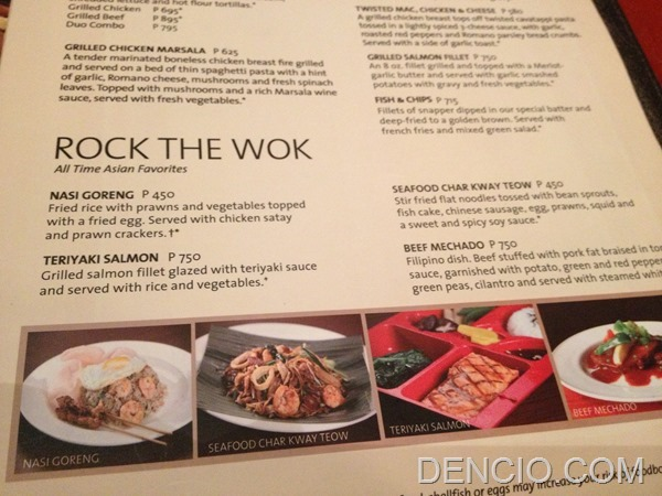 Hard Rock Cafe Makati Menu Prices 09