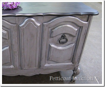 silver metallic furniture paint