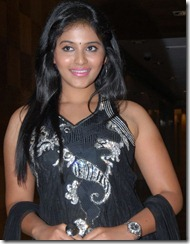 Tamil Actress Anjali Photo Shoot Stills in Black Salwar Kameez