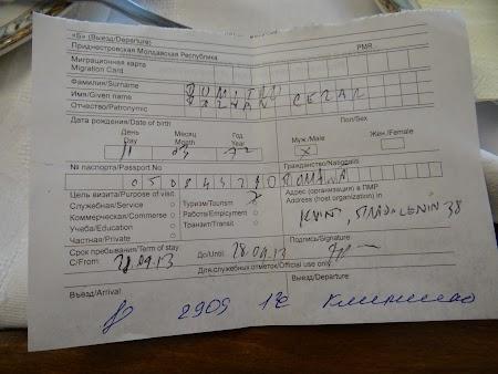 Viza de Transnistria