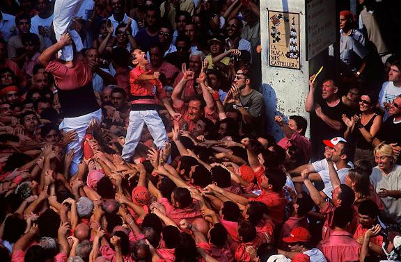 Castells, diada de Sant Fèlix, Colla Vella dels Xiquets de Valls, Vilafranca del Penedès, Alt Penedès, Barcelona 1999
