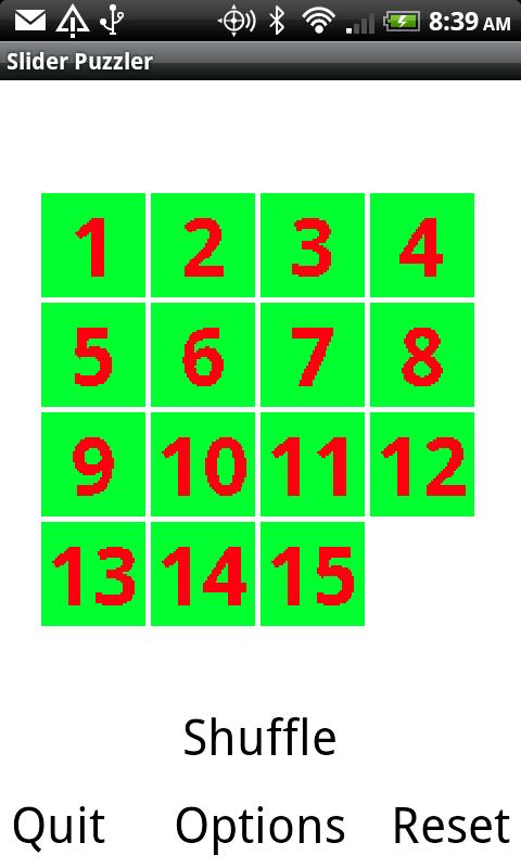 Slider Puzzle - screenshot