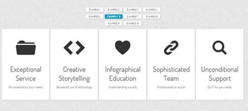 Creativo menú con animación CSS3