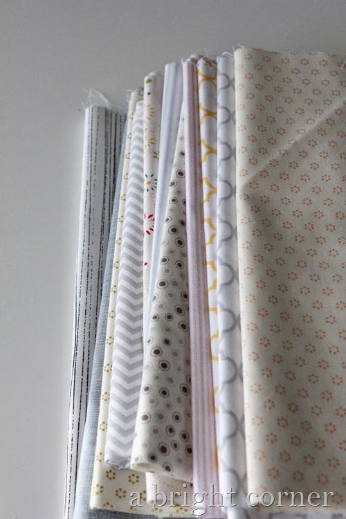 stack of low volume fabrics