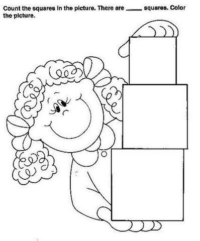 Dibujos Con Formas Geometricas Para Colorear