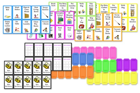 It's just an image of Printable Chore Cards intended for babysitter
