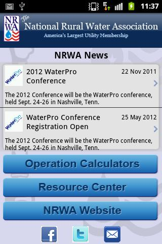 NRWA Water Operations- screenshot