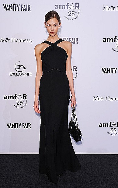 Karlie Kloss FENDI SS 2012 Precollection black long dress
