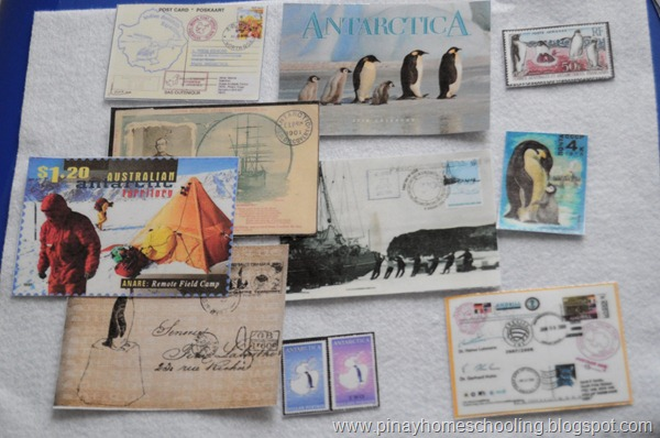 Postcards and Stamps About Antarctica