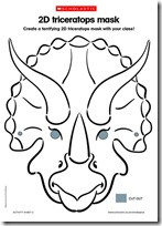 Máscara dinosaurio para imprimir