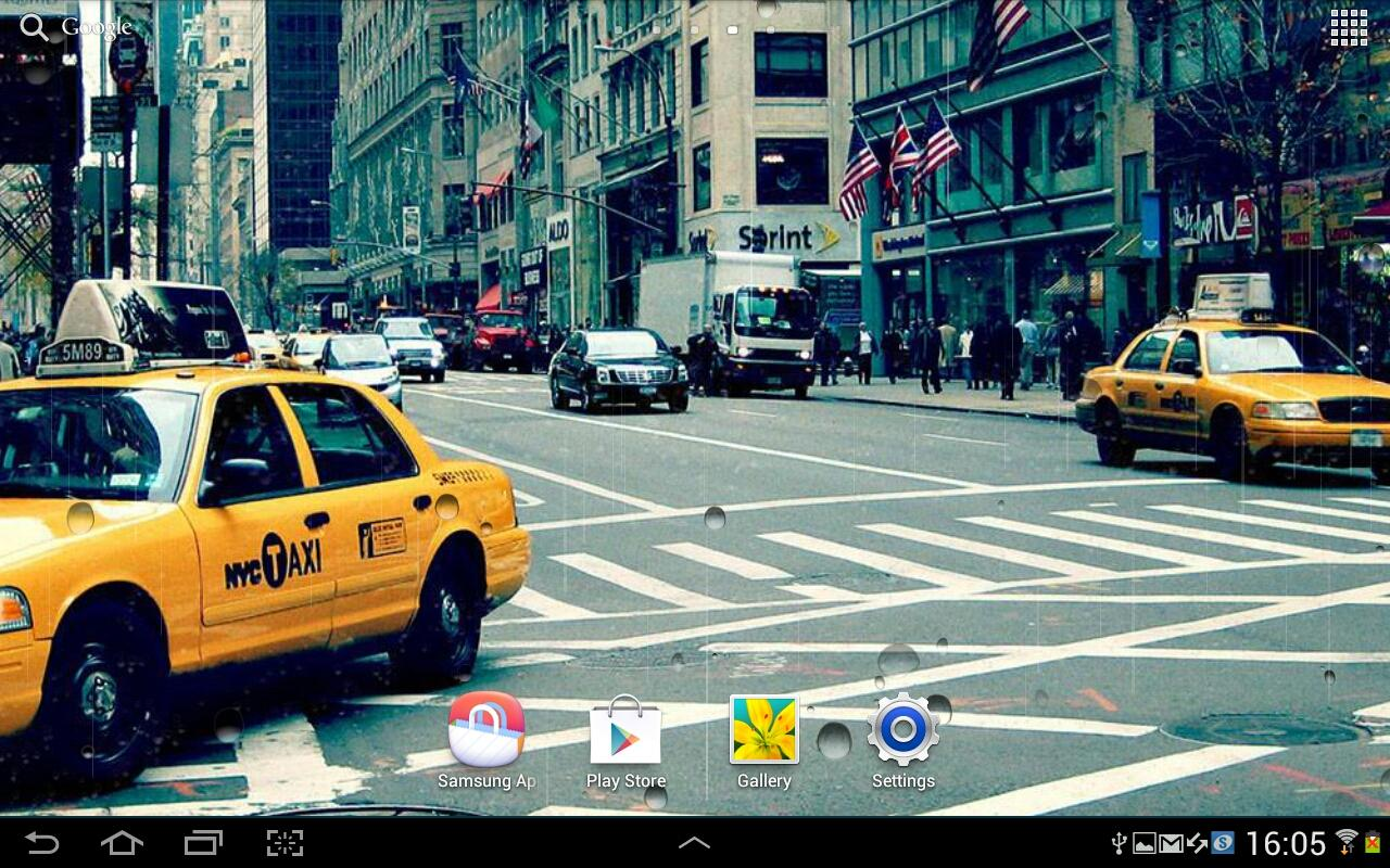 Rainy New York Live Wallpaper