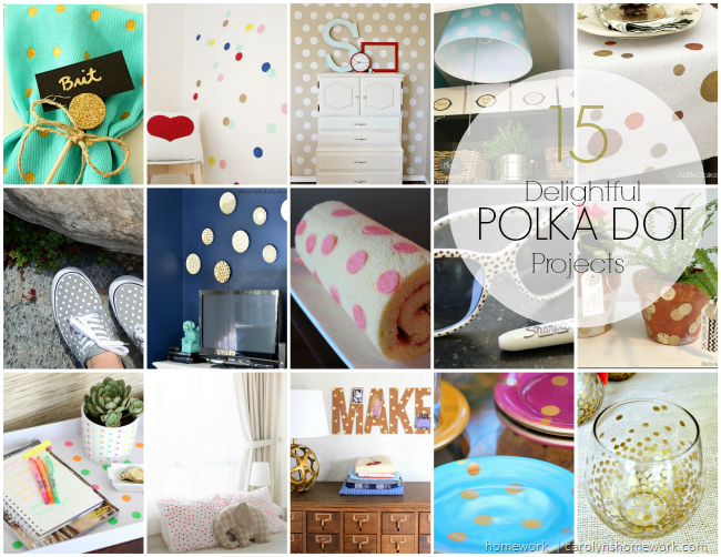 Delightful Polka Dots Round Up via homework | carolynshomework.com