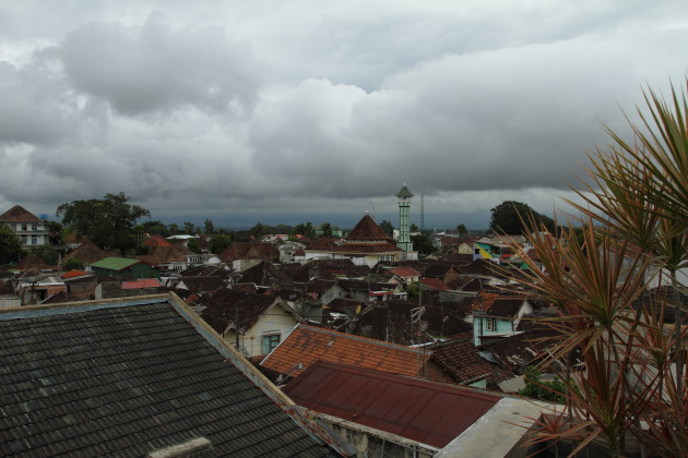 Cloudy day over scenic Malang in East Java, Indonesia