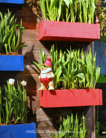 Southern Spring Show Gnome and flowers