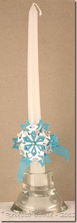 snowflake candle