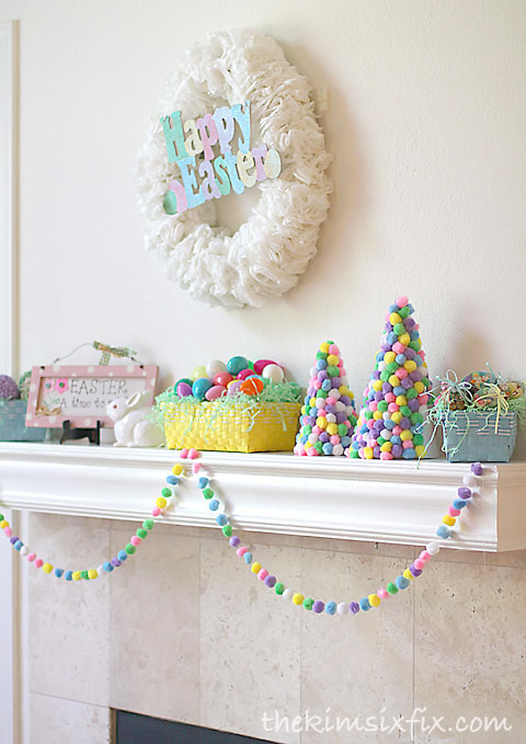 Easter mantle decorations