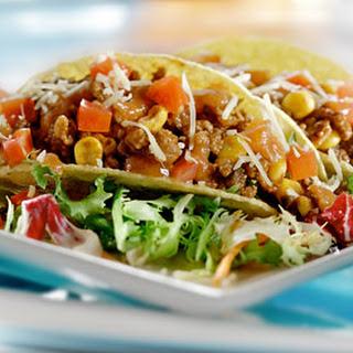 Taco's Met Gehakt, Maïs, Tomaat En Saus
