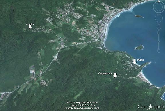 Localisations : Praïa Pulso, Caçandoca et Arariba