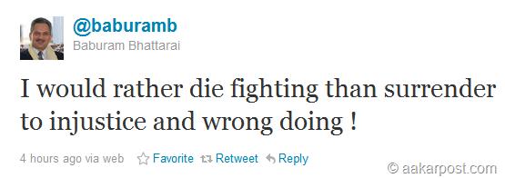 baburam-first-tweet