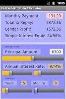Screenshot of Fast Amortization Calculator