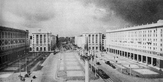 Plac Konstytucji 1952 - panorama