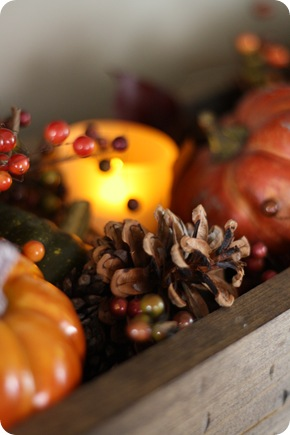 LED votives fall decor