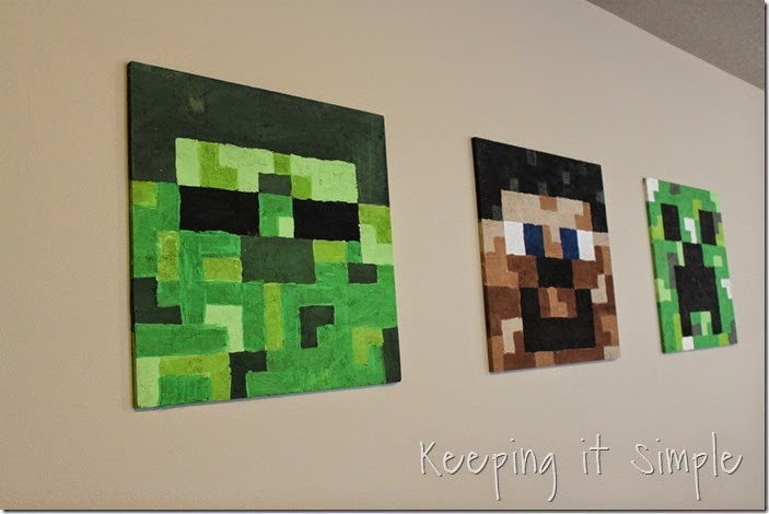 Minecraft wall art idea large wood minecraft characters keeping large diy minecraft wood signs 11 solutioingenieria