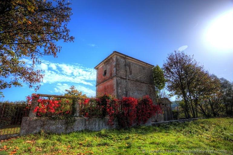 Colourful leaf autumn house Molise Italy