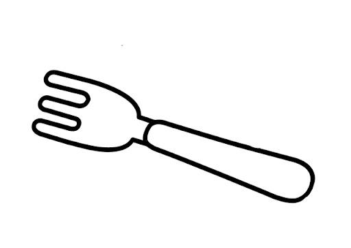 Dibujo De Tenedor Para Colorear