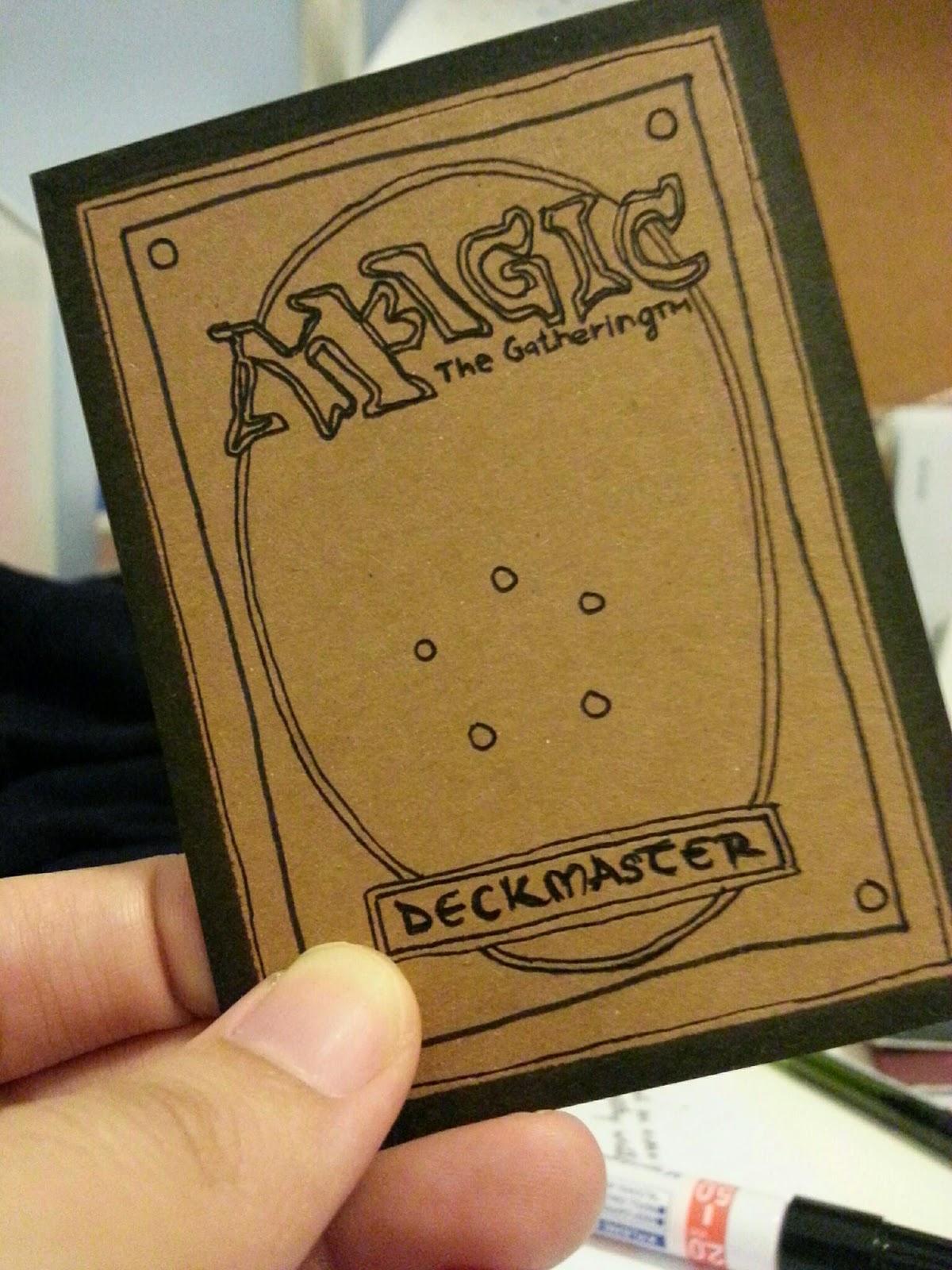 a little planeswalkers journal handdrawn mtg card