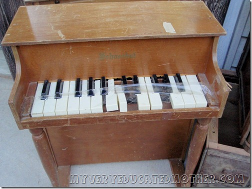Thrift Store Find Old Toy Piano