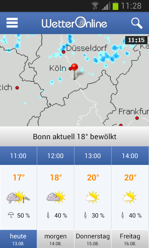 Wetter App - screenshot